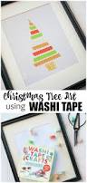 christmas tree art using washi tape creative cain cabin