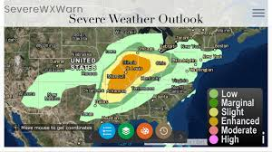 Weather Map Ohio by Severe Weather Likely Today Across Indiana Illinois Missouri
