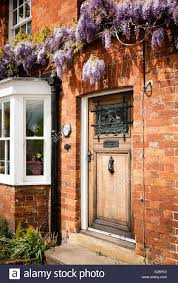 House Front Door Town House Front Door With Wisteria Above Stock Photo Royalty