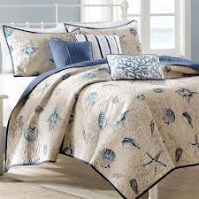 Seashell Crib Bedding Nantucket Coastal Seashell 6 Pc Coverlet Bed Set Bed Sets Pc