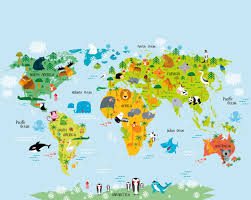 World Map Wallpaper Mural by Whole Wide World Map Wallpaper Mural Kool Rooms For Kool Kids