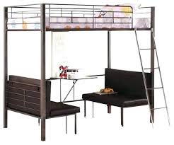 Black Bunk Bed With Desk Black Metal Loft Bed With Desk Charming Beds For Teenagers On
