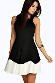 this fit and flare dress with a pleated skirt is ideal for going