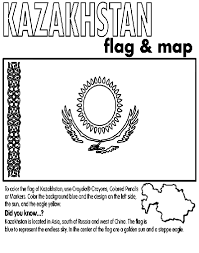 kazakhstan coloring page cs kazakhstan pinterest crayola