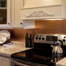 copper kitchen backsplash photo hammered copper kitchen