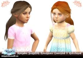 childs hairstyles sims 4 leah lillith s renaissance child toddler conversion by shimydim