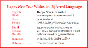 how do yo say happy new year in different languages merry