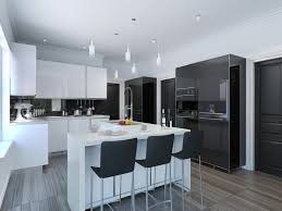 Modern White Kitchen Design Stylish Modern Kitchen Black And White With 47 Modern Kitchen