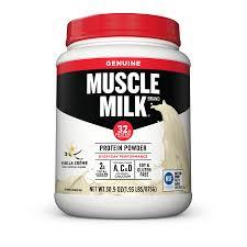 100 calorie muscle milk light vanilla crème muscle milk genuine protein powder vanilla 32g protein 1 9 lb