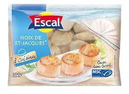 cuisiner st jacques surgel馥s escal noix de jacques msc escal escargots crevettes et