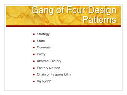of four design patterns how i learned to apply design patterns