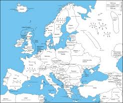 Map Of Europe With Countries by A Map Of Europe With Countries Throughout Labeled Roundtripticket Me