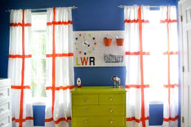 Orange And Blue Curtains Readers Favorite Space Themed Nursery Project Nursery