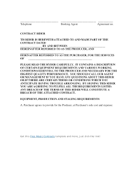 sample contract band contract template 26 contract agreement form