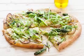 halloween pizza background shaved asparagus and potato pizza recipe simplyrecipes com