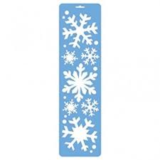 Christmas Window Decorations Snowflakes by Amscan Christmas Window Decoration Snowflakes Spray Stencils X 3
