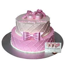 2072 2 tier pink baby shower cake abc cake shop u0026 bakery