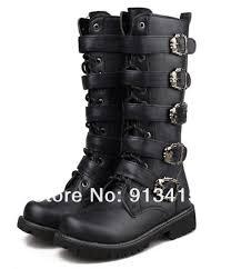 mens high motorcycle boots 2015 sreet punk rock men u0027s top cool high knee fashion army
