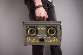 Coolest Speakers 50 Cal A Box The Original Ammo Can Boombox Thodio