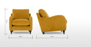 Made Armchair Sofia Armchair Plush Turmeric Velvet Made Com