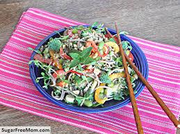 soba noodle vegetable salad with sesame peanut dressing