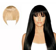 clip in bangs bellami blunt style clip in seamless bangs page 1 qvc