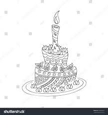 100 birthday cake sketch how to draw panda with birthday