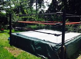 backyard wrestling ring for sale cheap this backyard wrestling ring in cleveland is for sale on craiglist