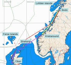 Norwegian Air Route Map by Adventure Sailing Holidays In Norways Lofoten Islands