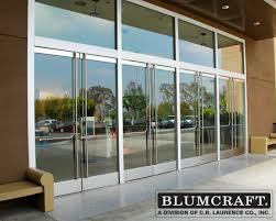 All Glass Doors Exterior Crl Arch Blumcraft Panic Devices And Access Handles