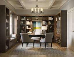 a custom designed home office maximizes efficiency and work area