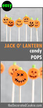 easy jack o u0027 lantern candy pops the decorated cookie