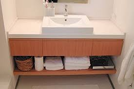 contemporary wall mounted vanity