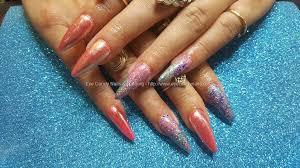 eye candy nails u0026 training acrylic nails with chrome and glitter