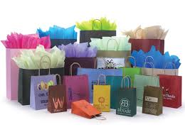 varnish stripe shopping bags packaging specialties