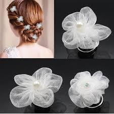 flower hair bun aliexpress buy 5pcs lot wome wedding bridal hairstyles