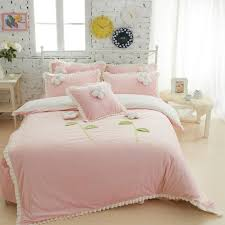wholesale thick fleece girls bedding sets king queen twin size