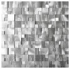 3d raised cobblestone pattern aluminum mosaic tile contemporary