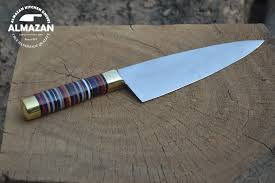 kitchen knive almazan custom chef s stainless steel knife with natural cirque