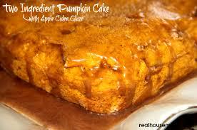 two ingredient pumpkin desserts