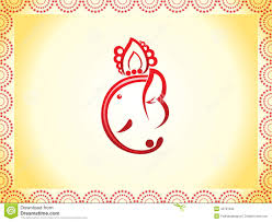 Invitation Cards For Ganesh Festival Abstract Ganesha Chaturthi Background Stock Vector Image 43797032