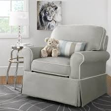 Grey Rocking Recliner Furniture Cream Nursery Recliner With Ottoman Plus Crib And Rug
