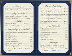 assisted living menu ideas formal casual dining