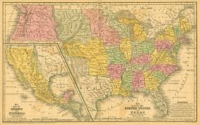 Map Of The Southern States Of America by