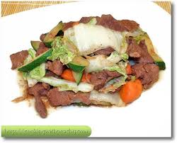 stir fried beef in hoisin sauce