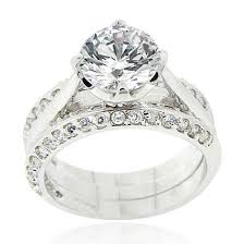 groupon wedding rings cubic zirconia engagement ring sets