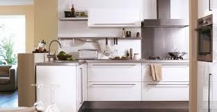 cuisine blanche brillante cuisine city blanche brillant idée de décoration hygena