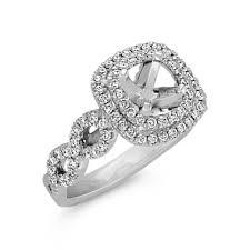 infinity diamond ring cushion halo infinity diamond engagement ring in 14k white