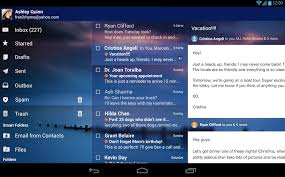 yahoo app for android yahoo s new mail app is like a swiss army knife for android