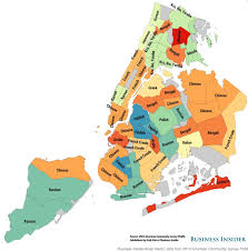 map of nyc areas map reveals most commonly spoken languages in nyc neighborhoods